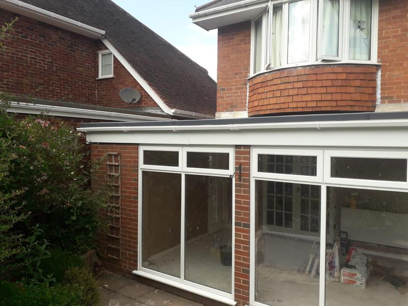 Image 33 - Conservatory roof converted to flat roof with rubber that has a 50 year life expectancy. Gorgeous grey.