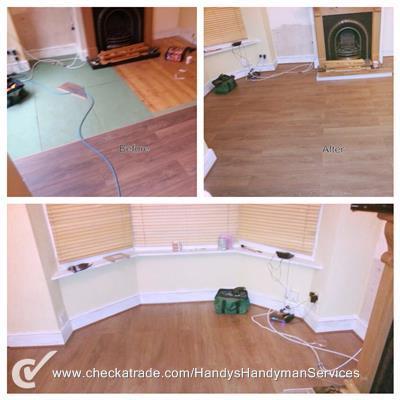 Image 39 - Laminate flooring installed.