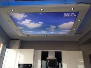 Image 62 - Northampton - kitchen showroom with sky print stretch ceiling