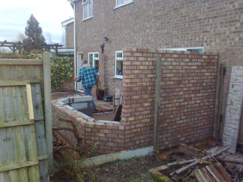 Image 4 - conservatory base&brickwork for mr& mrs bob hinge