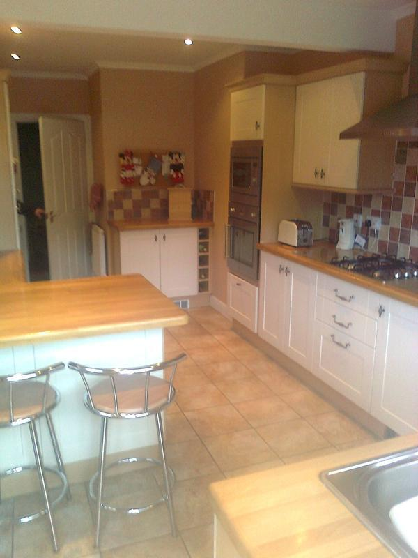 Image 9 - another angle of tom&jean wainrights kitchen in measham derbyshire