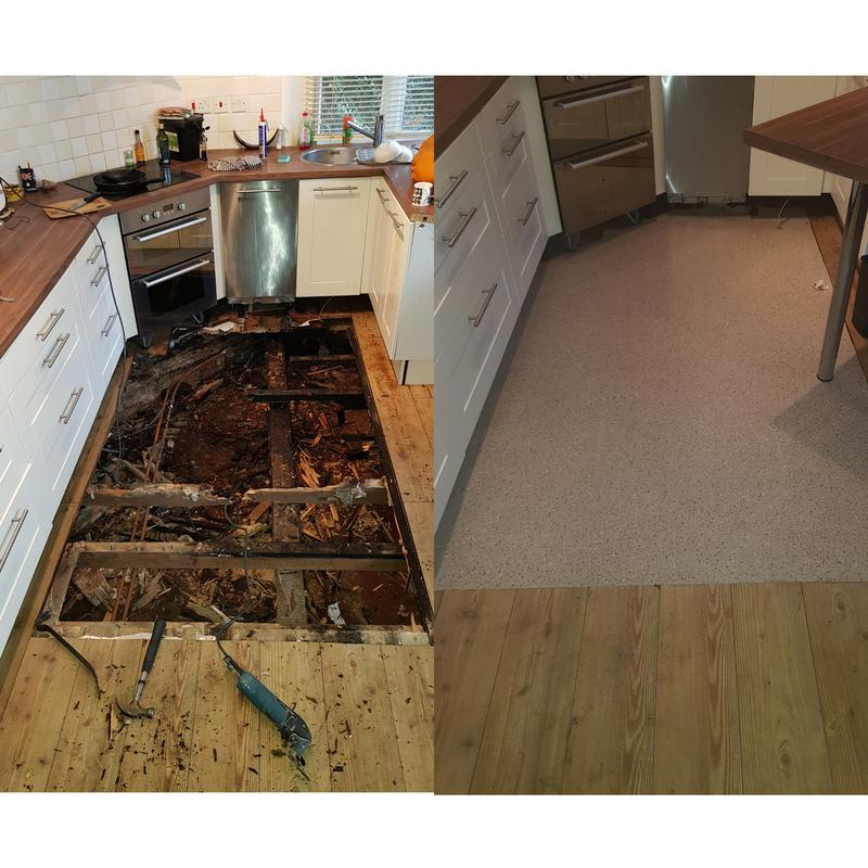 Image 13 - Rotten section of floor fully replaced.