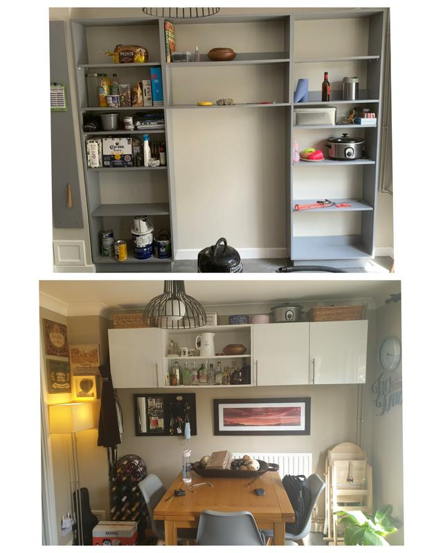 Image 2 - Bespoke shelving unit built and painted.