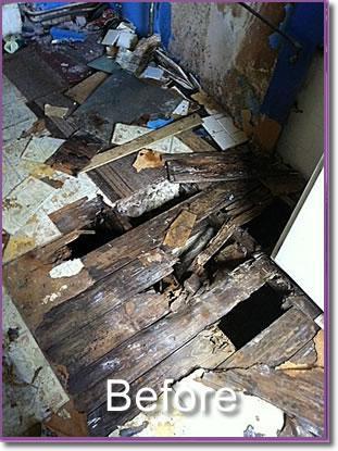 Image 6 - rotten kitchen floor
