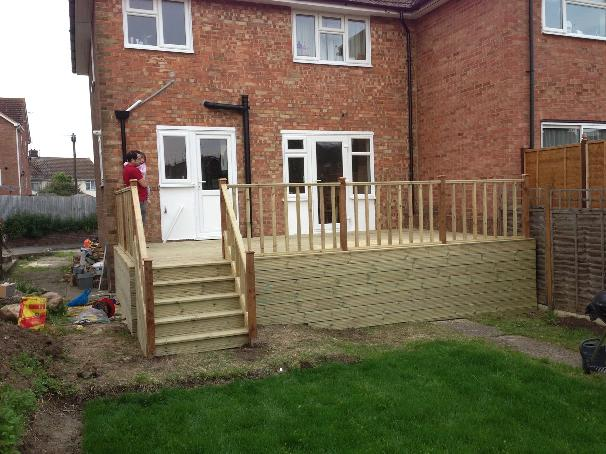 Image 7 - Completed decking with steps