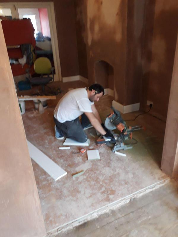 Image 5 - Skirting boards installation