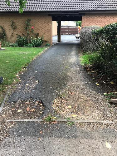 Image 60 - Before. Tarmac driveway in Bishops Stortford.