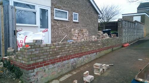 Image 15 - this wall was in danger of collapse and had to be taken down and rebuilt