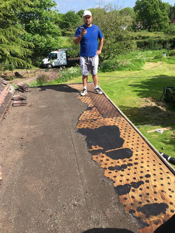 Image 35 - Flat roof being prepared