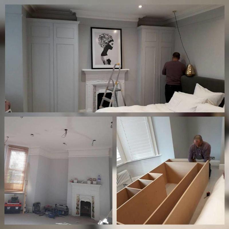 Image 3 - Full bedroom remodelling install spotlights, wardrobe installation, painting.