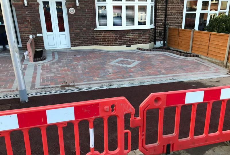 Image 28 - Two small driveways installed along with dropped kerb for both drives