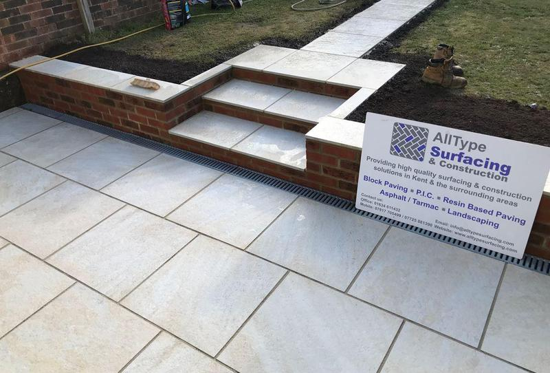 Image 30 - New patio and path area, including new wall and steps
