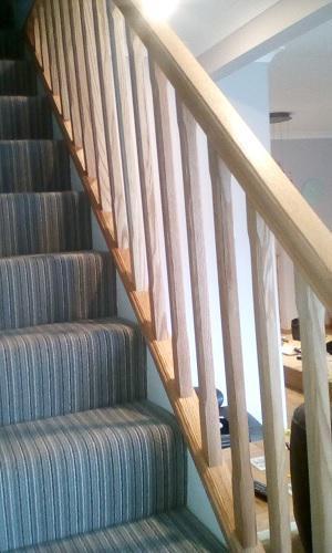 Image 51 - solid oak banister