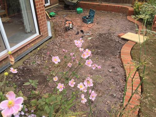 Image 22 - Indian Sandstone patio with Red brickwork in Godalming