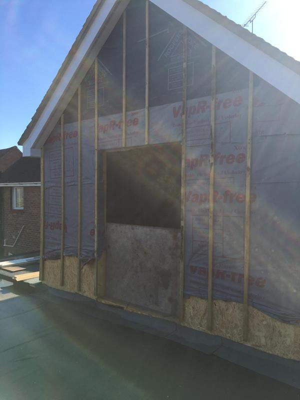 Image 14 - New breathable felt and battening on extension