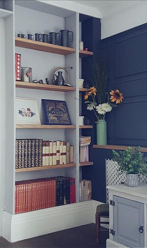 Image 70 - bespoke bookcase - mdf and solid oak