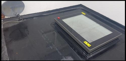 Image 83 - skylight and new rubber roof