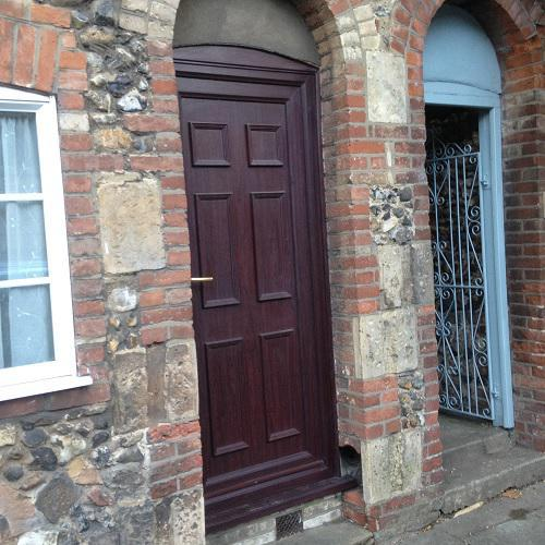 Image 7 - this photo shows the before work that was done on a property in Bury st Edmunds Suffolk , the door was removed and a window put in