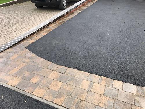 Image 59 - Tarmac & Alpha block paving driveway in Woking