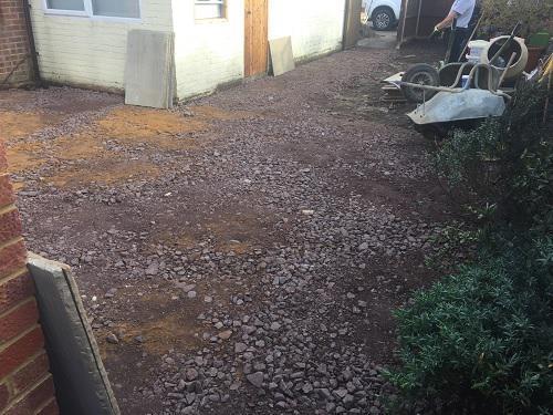 Image 68 - Indian Sandstone patio & pathway with new premium grass in Farnborough