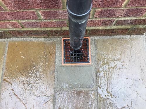 Image 71 - Indian Sandstone patio & pathway with new premium grass in Farnborough