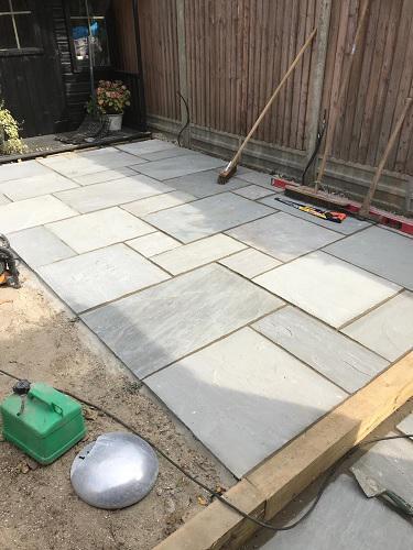 Image 57 - Indian sandstone patio in Bishops Stortford.