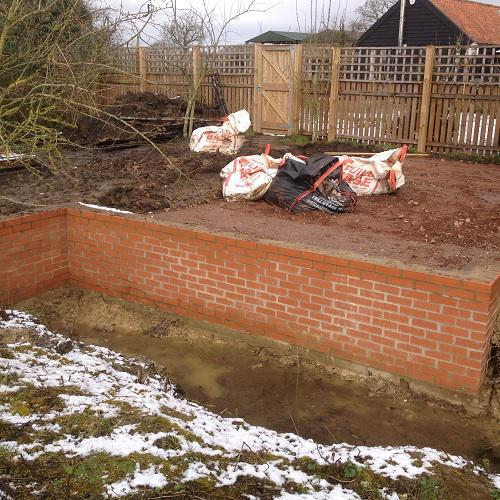 Image 12 - A retaining wall built