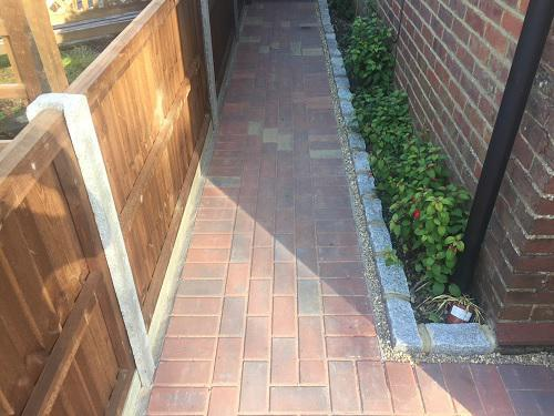 Image 84 - Block paving driveway with granite setts in Shalford