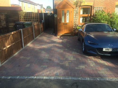 Image 86 - Block paving driveway with granite setts in Shalford
