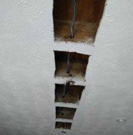 Image 18 - Ceiling cutout to feed new cable through joists