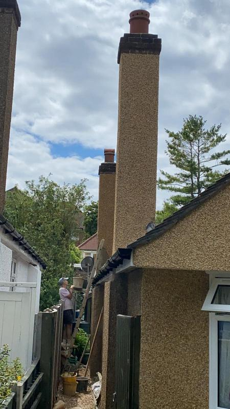 Image 34 - Nice chimney stack finished in Pebble Dash.
