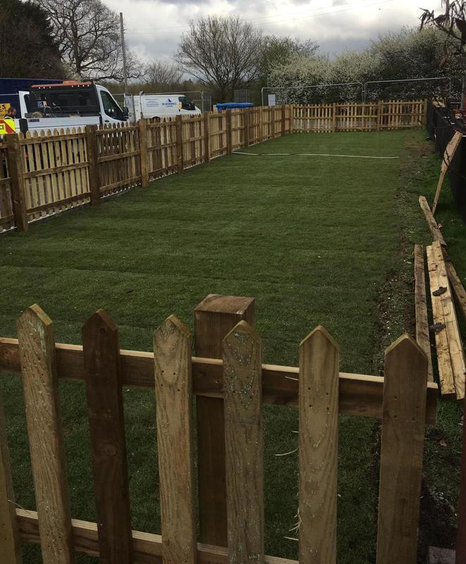 Image 191 - New turfing and picket fence to pub in Bristol