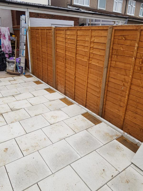 Image 27 - Almost finished slabs and fencing