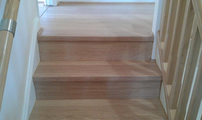 Image 32 - Laminate flooring on stairs.