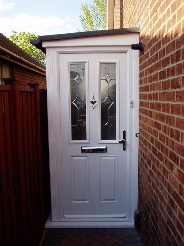 Image 32 - Porch for side entrance property with white composite door