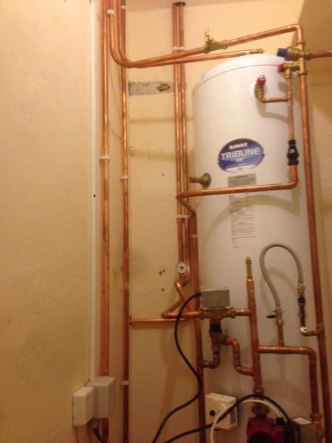 Image 2 - Copper pipework plumbed in for new boiler