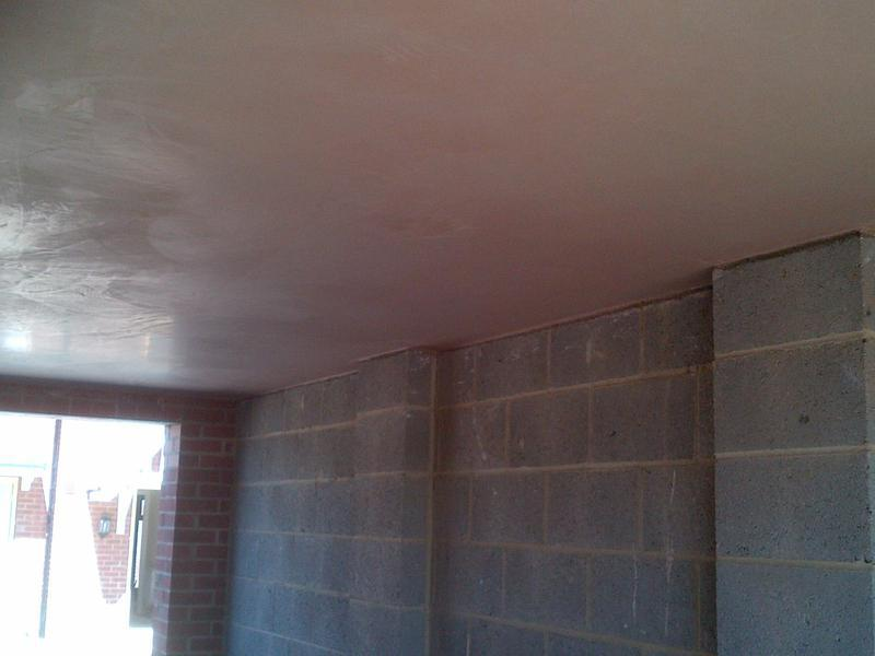 Image 5 - Board and skim Garage ceiling