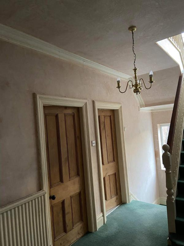 Image 19 - Plastering of a hall, stairs and landing.