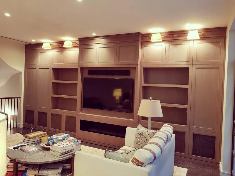 Image 1 - Stained Oak Wall Unit