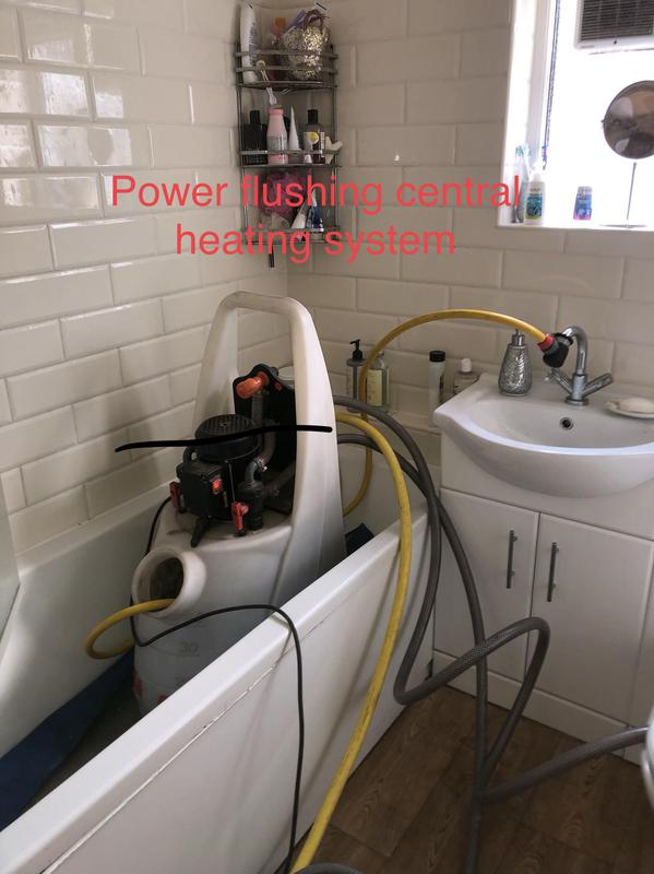 Image 17 - Power flushing in a 3 storey building. We placed the power flushing machine in middle floor.