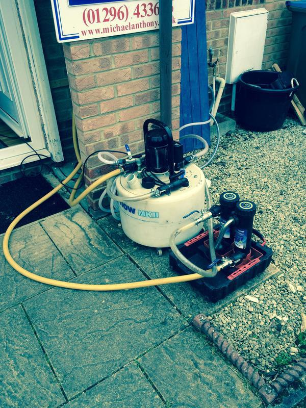 Image 7 - Power flushing an existing heating system ready for a new boiler to be installed.