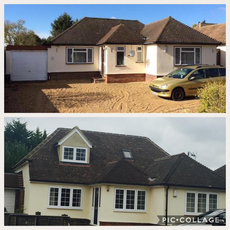 Image 26 - Before & after bungalow conversion.