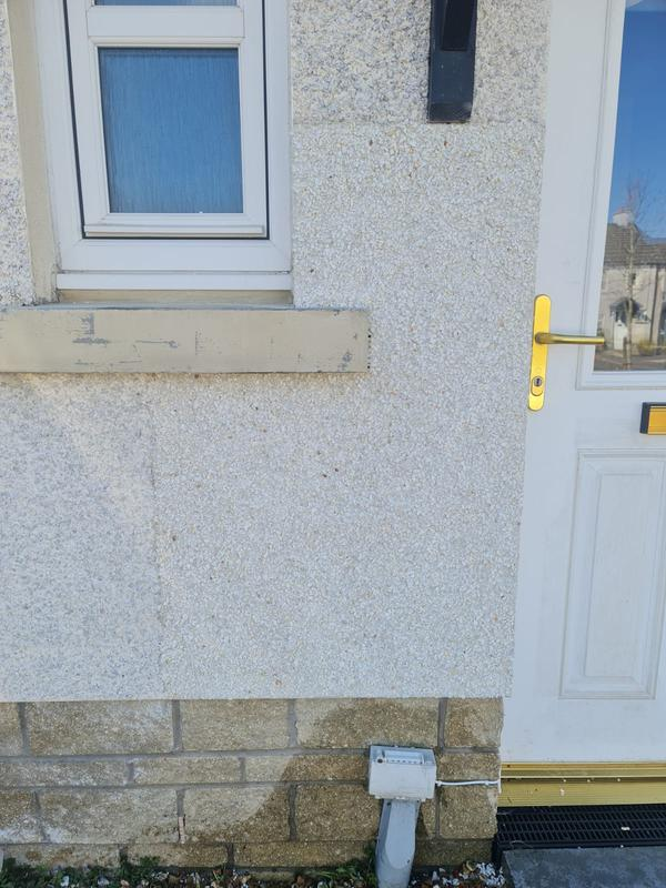 Image 3 - roughcast patch after