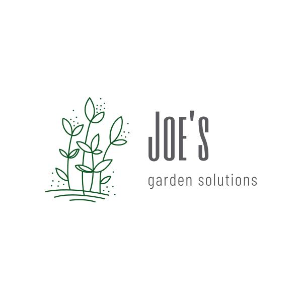 Joe's Garden Solutions logo