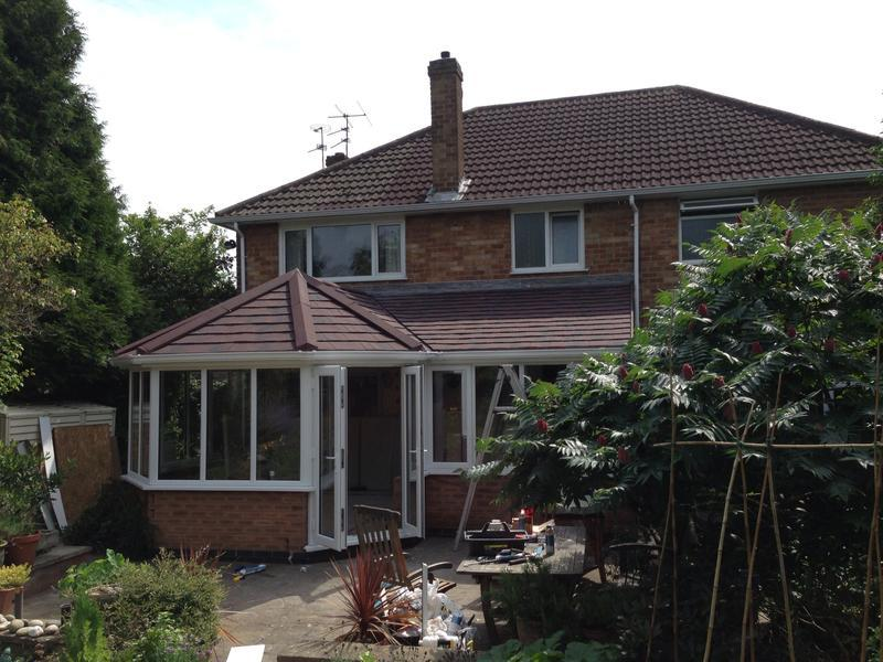 Image 47 - Conservatory in Quorn after we've fitted a Supalite tiled roof and window