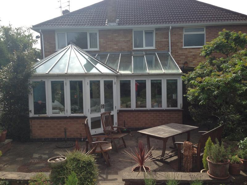 Image 46 - Quorn Conservatory before we fitted a supalite tile roof and new windows