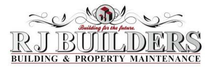 R J Builders logo