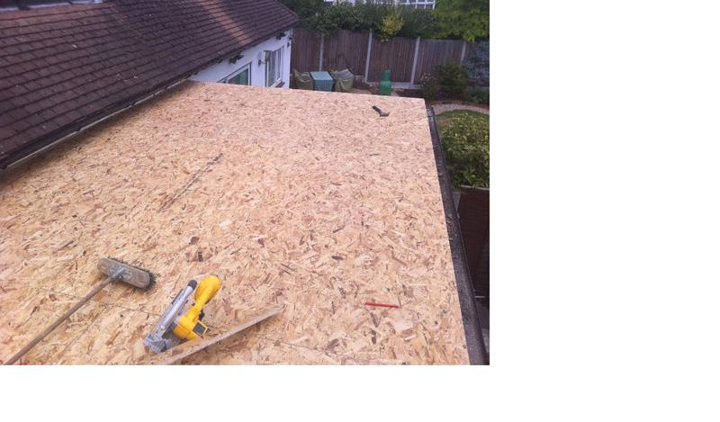 Image 2 - Once fully insulated, new 18mm OSB decking is laid.