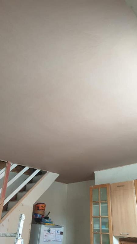 Image 22 - Radcliffe Building Works - During - Living room ceiling plastered