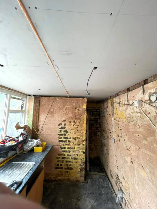 Image 26 - Radcliffe Building Works - During - walls skimmed and stripped